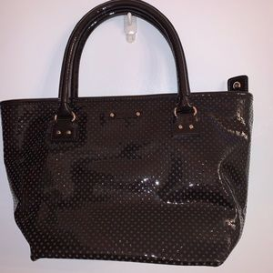 Espresso Patent Leather Kate Spade Arm Bag
